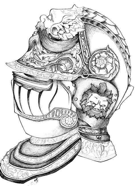 knight armor tattoo designs helmet by nsanenmembrain on deviantart