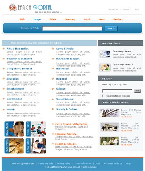 portal templates free website templatesfree yt po0102 template