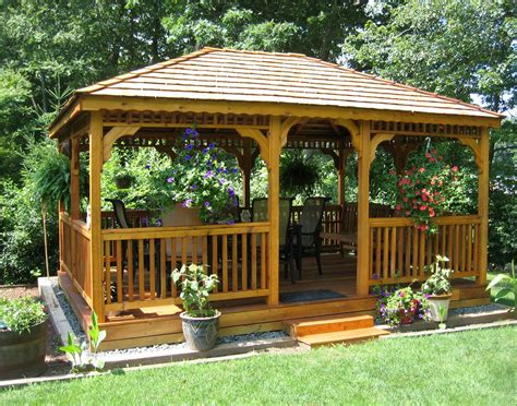 backyard with gazebo gazebos wooden garden shed plans compliments of build