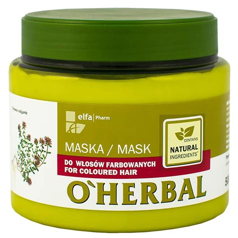 Herbal Mask o herbal mask for coloured hair with thyme extract
