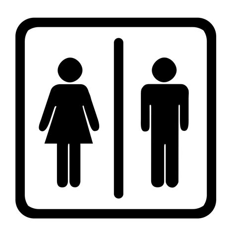 bathroom sign person toilet sign clipart best