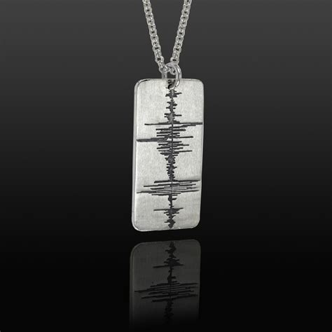 tag jewelry custom soundwave tag sterling silver soundwave jewellery