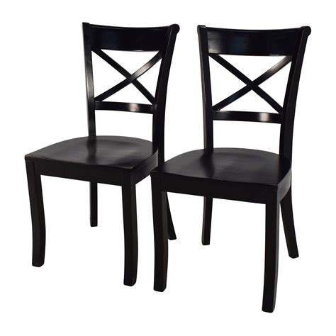Pair Dining Chairs 53 Crate And Barrel Crate Barrel Vintner Wooden Chair Pair Chairs