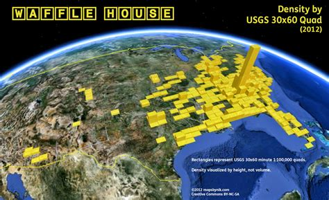 waffle house locations a map of all the waffle house locations in america huffpost