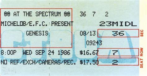 genesis tickets ticket genesis the spectrum philadelphia 24th