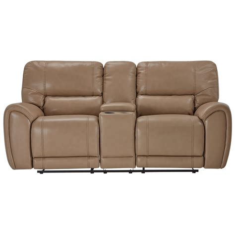 reclining loveseat microfiber city furniture bailey taupe microfiber reclining console