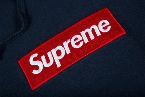supreme box logo supreme hoodie box logo hoodie navy 2016 release