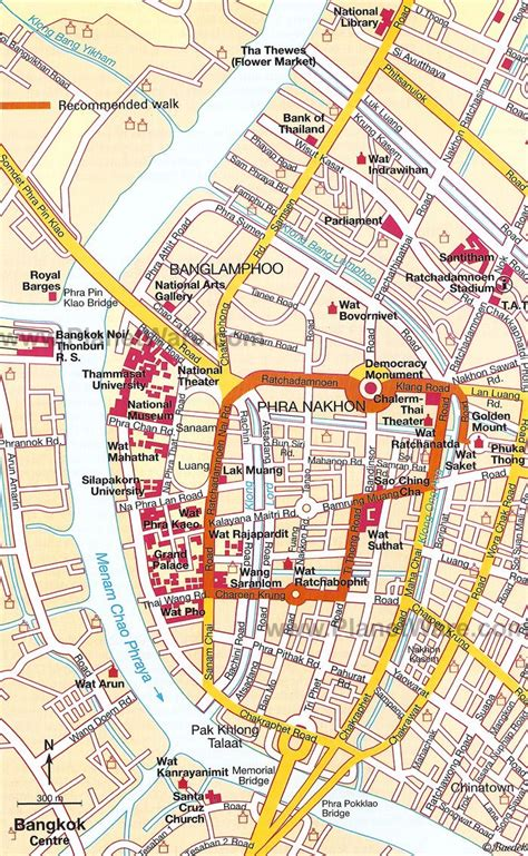 bangkok downtown bangkok map tourist attractions