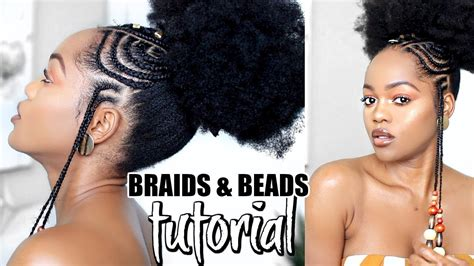 how to make fulani hairstyle how to african fulani inspired braids and beads tutorial