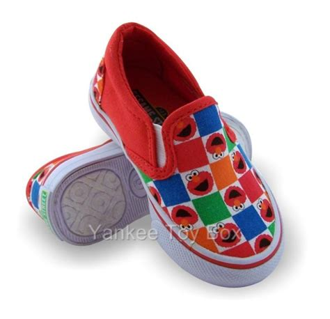 elmo shoes for sesame elmo slip on canvas sneakers shoes ebay
