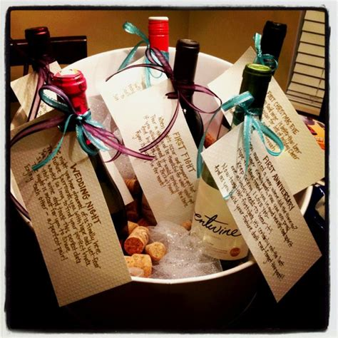 Wine Basket For Bridal Shower bridal shower wine basket craft ideas