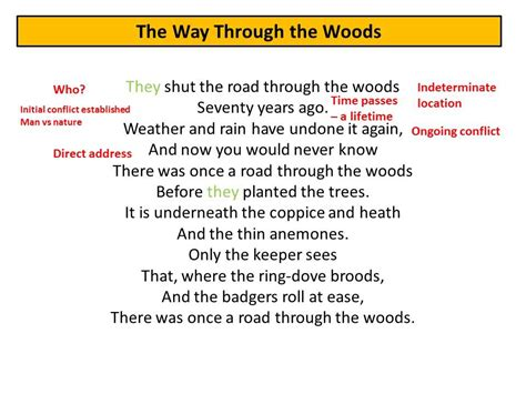 the way through the the way through the woods by rudyard kipling revision notes youtube