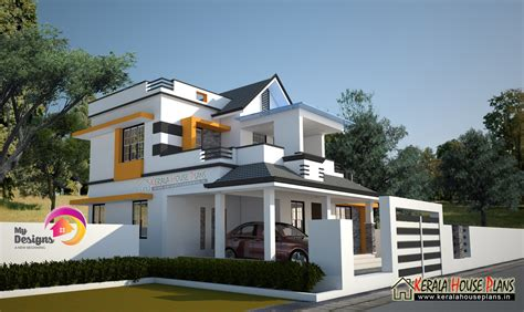 3 bedroom 2 story house design kerala house plans