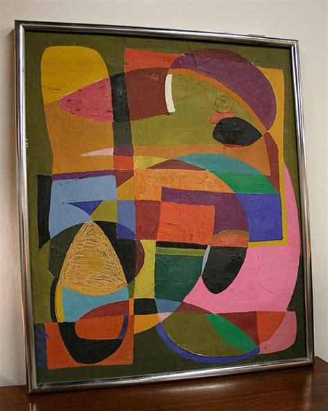 mid century modern abstract geometric painting