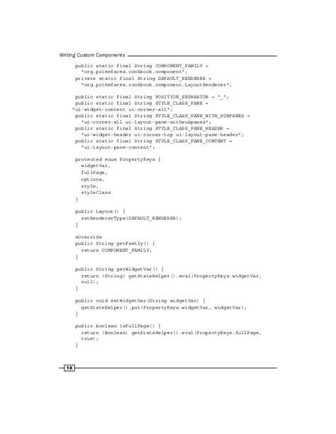 primefaces layout header custom primefaces components