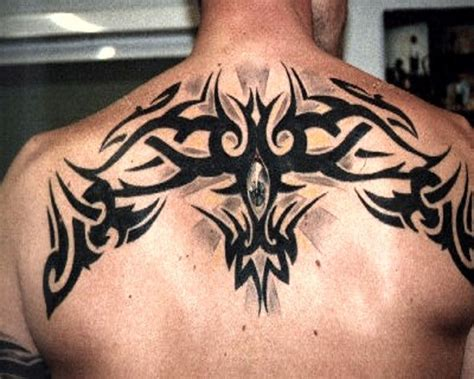 shoulder cap tattoos for men shoulder cap fan patterns back tribal
