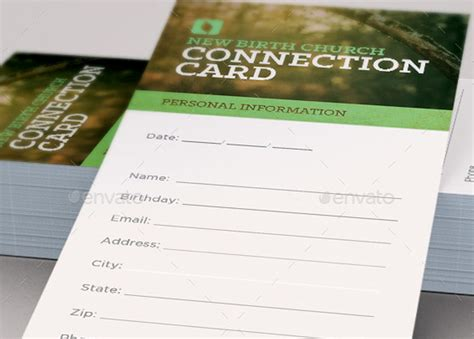 Church Connection Card Template by Grow With Us Connection Card Template Inspiks Market