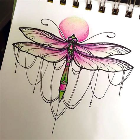 pink dragon tattoo designs pink girly dragonfly design