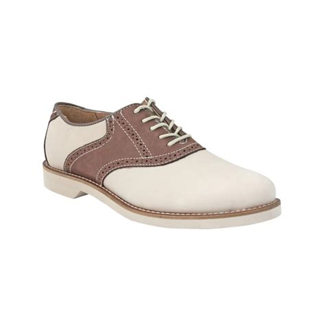 bass oxford shoes bass burlington signature saddle oxfords in beige for