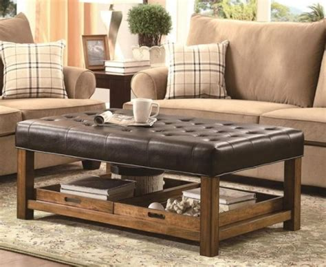 Leather Rectangular Ottoman Coffee Table Best 25 Leather Ottoman Coffee Table Ideas On Leather Rectangular Ottoman Coffee Table