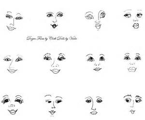 fabric doll template alnepo buzz black and white sketches faces