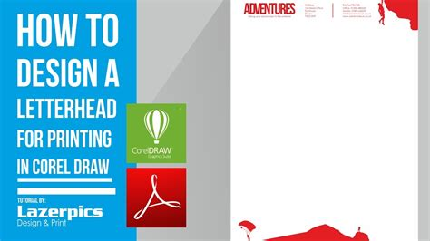 business letterhead corel draw how to design a letterhead in corel draw x8 x7 x6 x5