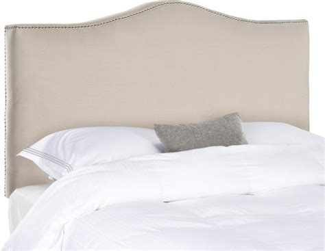 Light Gray Headboard Jeneve Camelback Headboard Light Gray Contemporary Headboards By Zopalo