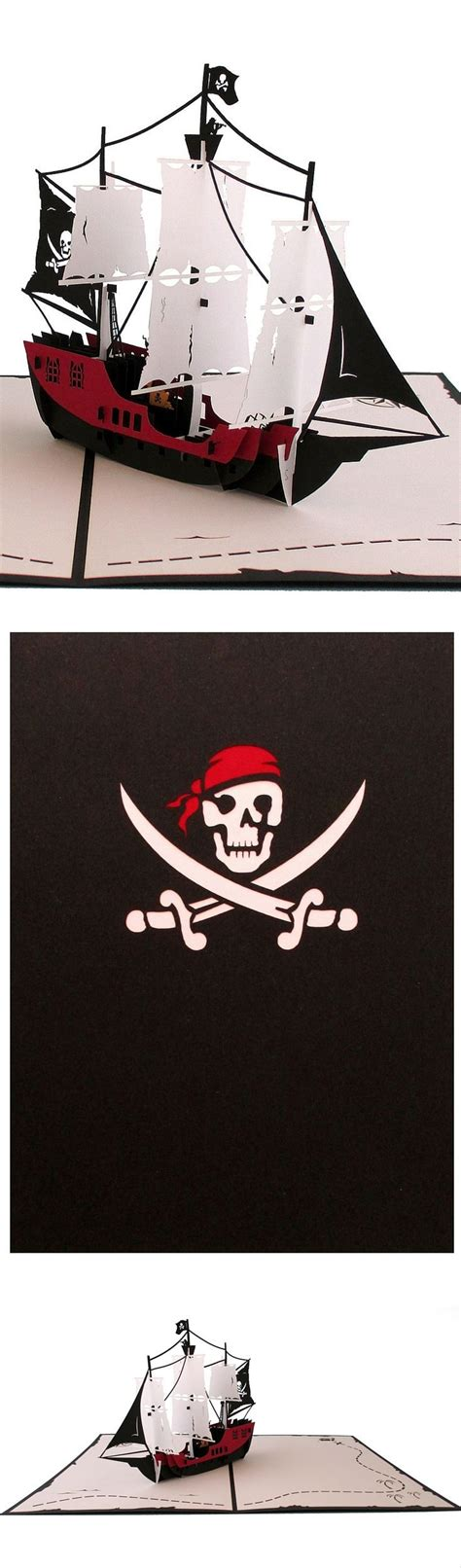 pirate ship pop up card template 615 best boats ships papercraft images on