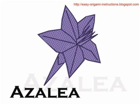Origami Azalea - origami azalea origami