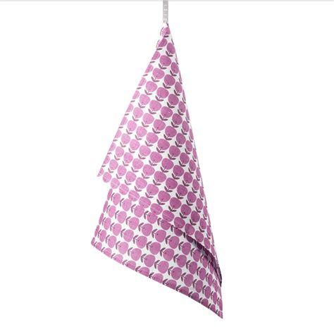 Kitchen Towels Pink Tea Towel Apple Pink Zizi Linen Home Textiles