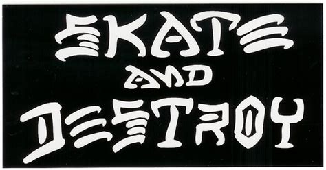 skate and destroy thrasher black flickr photo sharing