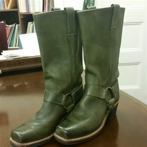 olive color boots 66 frye shoes olive green color frye harness