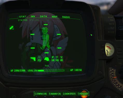 ikaros pip boy background fallout 4 mod cheat fo4