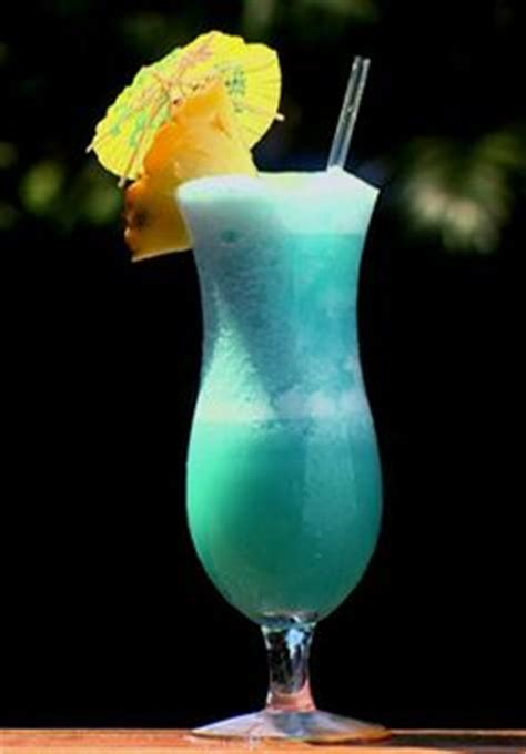 Liquid Hawaiian Cocktal blue beverages on blue curacao blue hawaiian and sour mix