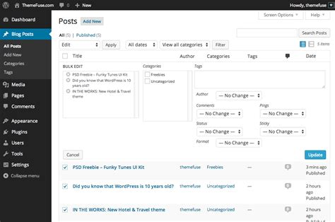 theme edit blog edit an existing blog post themefuse