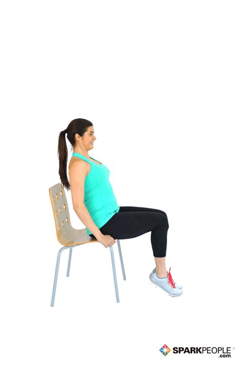 Chair Exercise by Seated Knee Lifts With Chair Exercise Demonstration