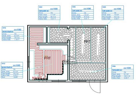 layout for underfloor heating underfloor heating