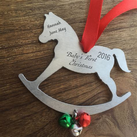 baby s first christmas ornament personalized by