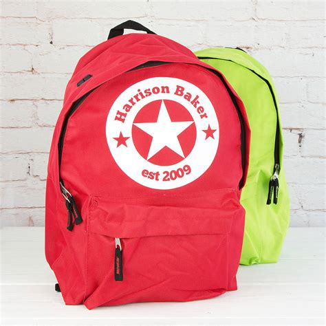 personalised star childrens rucksack by 3 blonde bears