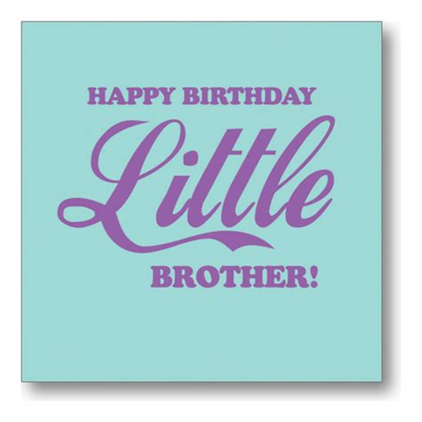 Happy Birthday Bro Quotes Funny Happy Birthday Little Brother