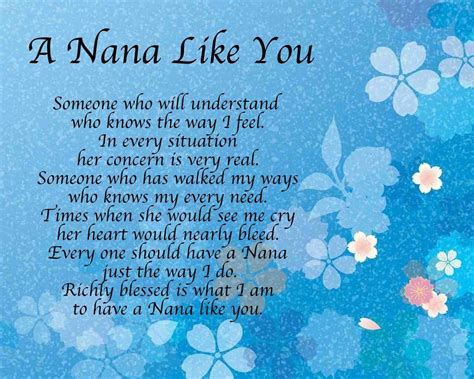 Birthday Quotes For Nana Personalised A Nana Like You Poem Birthday Mothers Day