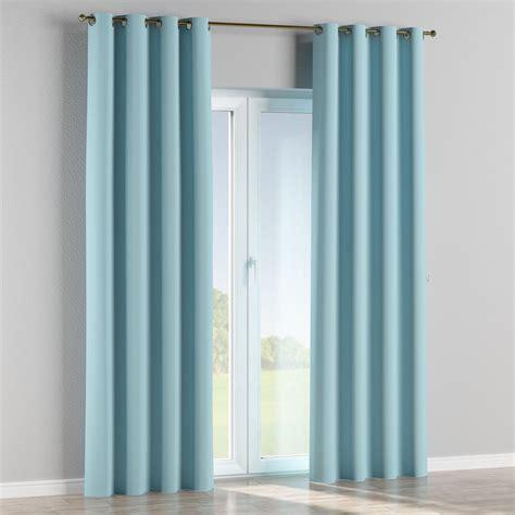 blue blackout eyelet curtains blackout eyelet curtains sky blue 140x310 cm dekoria
