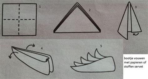 bootje vouwen vierkant papier bootje vouwen met servet doe je zo hobby blogo nl