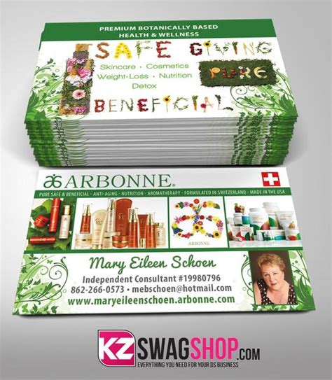 free arbonne business card template arbonne business cards style 2 kz swag shop