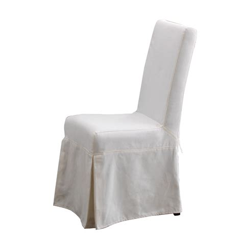 White Slipcover Dining Chair Padma S Plantation Pacific Dining Chair Slipcover In Sunbleached White Live Well Stores
