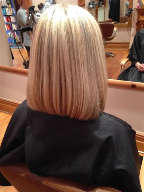 hair in front shoulder length in back back view of medium length bob hairstyles short