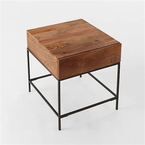 Storage Side Table Industrial Storage Side Table West Elm