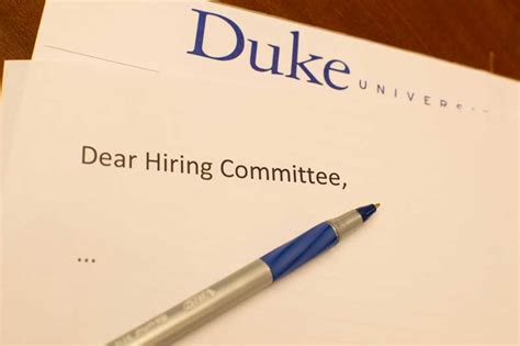 Cover Letter Duke by The Of The Academic Cover Letter Versatile Humanists