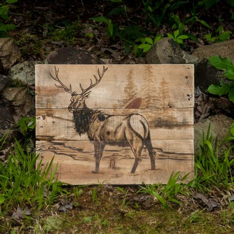elk home decor elk art log cabin decor log furniture rustic home decor