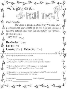 field trip announcement template field trip forms more zoo jungle theme editable tpt